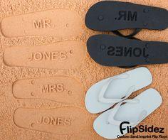Custom Wedding Flip Flops. Personalize With Your Sand Imprint Bridal Design. No Minimum Order Quantity.. $19.95, via Etsy.