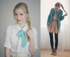 Sheinside Skirt, Ianywear Jacket, Esprit Shoes, H&M Blouse, H&M Belt - Too cold for spring - Joana Gröblinghoff