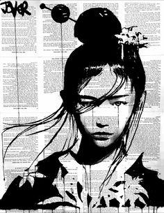 image on newsprint ***