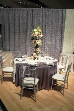 Silver and ivory table