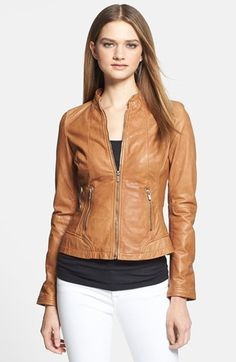 $435, Alice Leather Biker Jacket by LaMarque. Sold by Nordstrom. Click for more info: http://lookastic.com/women/shop_items/83014/redirect