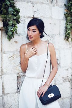 LOCATION: DUBROVNIK ASOS Top / ASOS Culottes / Chie Mihara Sandals / Mulberry Bag / Jennifer Zeuner Love Ring and Necklaces / ManiaMania Ring