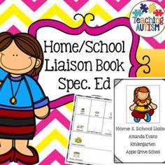 Home School Teacher Parent Liaison Communication Book / SEN / ASD