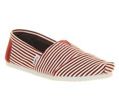 Toms Toms Classic Smu Bordo White Stripe - Casual