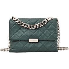 Stella McCartney Quilted Soft Beckett medium shoulder bag ($934) ❤ liked on Polyvore featuring bags, handbags, shoulder bags, green, leather handbags, quilted leather shoulder bag, purse shoulder bag, leather purse and man bag