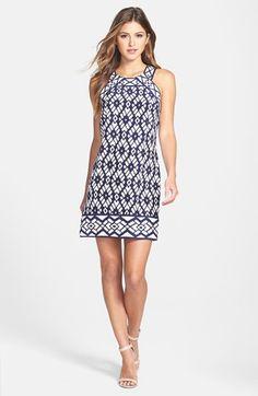 ALICE & TRIXIE 'Michelle' Print Silk Shift Dress | Nordstrom