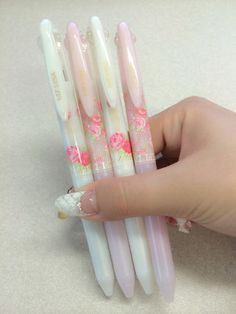 ❤ Blippo Kawaii Shop ❤ — emiii-chan: Finally got my hands on these! Stickers Kawaii, Kawaii Pens, Stationary Supplies, Cute Stationary, Cool School Supplies, Office Supplies, Cute Pens, Kawaii Stationery, Korean Stationery
