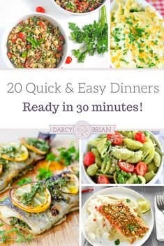 These quick and easy dinners are perfect for busy nights. These easy recipes are ready in about 30 minutes. There are a variety of recipes to choose from: pasta recipes, chicken recipes, and seafood recipes. From prep to table, you're sure to find a new f