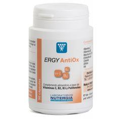 Ergy Antiox de Nutergia es un complemento nutricional antioxidante indicado para prevenir el estrés oxidativo y el envejecimiento de las células del organismo.