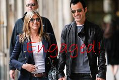 Jennifer Aniston and Justin Theroux Engaged August 2012