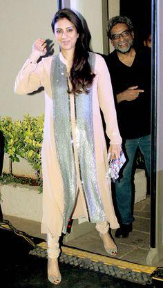 Tabu and R Balki at the music launch of 'Shamitabh'. #Bollywood #Fashion #Style #Beauty
