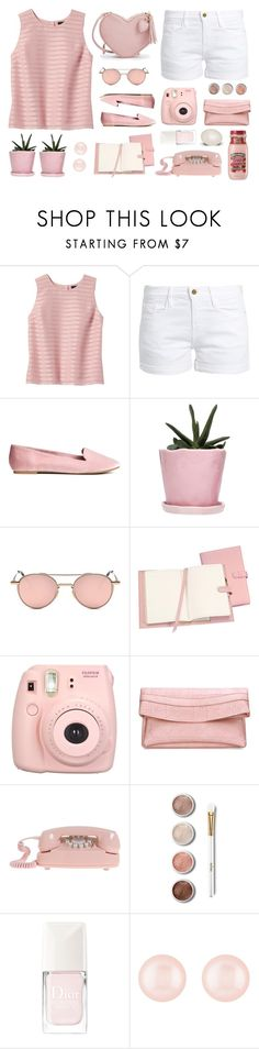 """""""4/8 top set"""" by tinkertot ❤ liked on Polyvore featuring Banana Republic, Frame, Dot & Bo, Royce Leather, Fujifilm, Terre Mère, Christian Dior and Henri Bendel"""