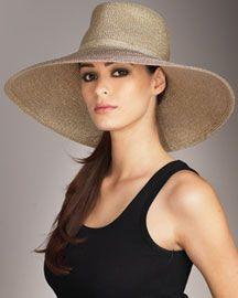 Summer Necessity- The wide brim floppy hat.