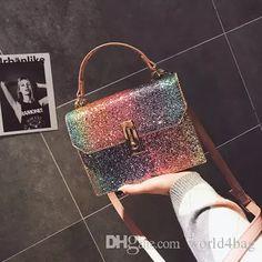 Rainbow Sequins Handbags On The Bew Packet 2018 New Ins Shoulder Diagonal Handbags Small Square Bag Large Handbags Black Leather Handbags From World4bag, $13.81  Dhgate.Com Large Handbags, Black Leather Handbags, Large Bags, Africa, Sequins, Rainbow, Michael Kors, Pattern, Fashion