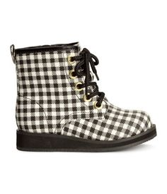 H&M Checked Boots $24.95