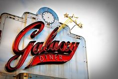 Route 66 Galaxy Diner Vintage Neon Sign
