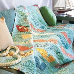 Whale's Tale: FREE Ocean Theme Bed Size Quilt Pattern Download from our sister publication, McCall's Quilting