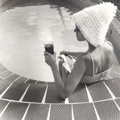 Vintage bathing cap