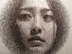 PORTRAITS MADE FROM WIRE MESH BY SEUNG MO PARK