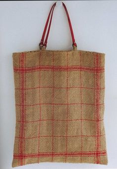 Big Bag Handmade Jute Linen Bags por ThisandThatFromJapan en Etsy
