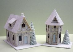 Karin Corbin Miniatures: Glitter houses - link to instructions on top right