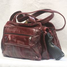 Leather Concealed Carry Handbag 1 #cowhide