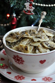 Polish Recipes, My Recipes, Cooking Recipes, Ravioli, Christmas Side Dishes, Kitchen Recipes, Bon Appetit, Love Food, Food Inspiration