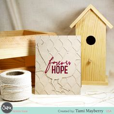 Have you seen Tami Mayberry's clean and simple cards yet? Find out how she makes this textured effect on the Sizzix blog. #sizzix #tamimayberry #textured #sizzix #cardmaking #cards #forever #cleanandsimple #timholtz #frameworks