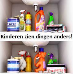 Mooie Campagne over hoe kinderen dingen anders zien. Dus ook voor kinderen goed opletten!