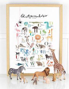 """Póster abecedario animales """"Animalario"""" - Project Party"""