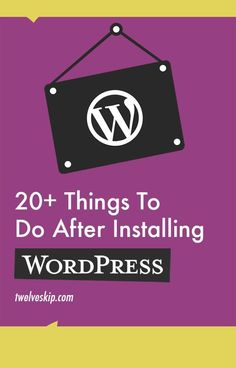 20 Important Things To Do After WordPress Install // You need to make sure that your website is optimized for your visitors and for the search engines.You need to secure your website. You need to be found by Google. Read this post for more!