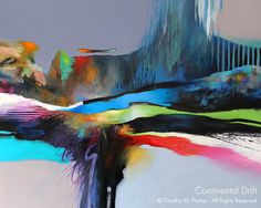 Abstract Art Painting - Artist Tim Parker Naples FL
