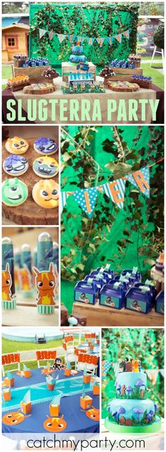 You have to see this awesome Slugterra party! See more party ideas at Catchmyparty.com!