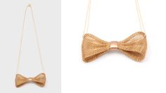 Chain Mesh Bow Necklace | AHAlife