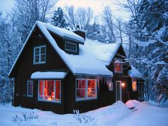 winter cabin | the cabin in winter doh ray cabin a quiet catskill retreat woodstock ...