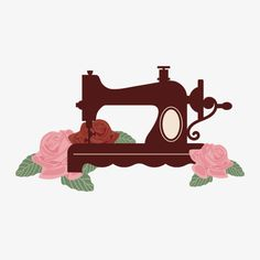 Sewing machine illustration art Ideas for 2019 Sewing Art, Sewing Toys, Sewing Crafts, Sewing Projects, Sewing Patterns, Sewing Machine Tattoo, Machine Logo, Diy Wallpaper, Vintage Sewing Machines