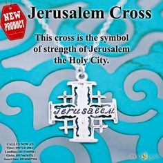 NEW PRODUCT: Jerusalem Cross Necklace This cross is the symbol of strength of Jerusalem the Holy City. To order, LEAVE your number on the comment box and our Product Specialist will call you. Or you may call us at (02)7346956   Globe: 09176626376   Smart/Sun: 09205407390   Viber: 09271214984. God Bless Us All! --> http://www.holyland.com.ph/jerusalem-cross-necklace.html