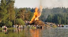 Midsummer with bonfires, great traditions!This is exactly what we'll be doing in a couple more weeks!!!