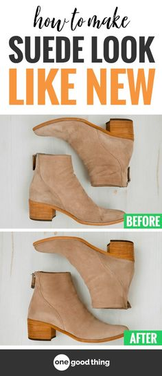 Some people shy away from suede because they think it's too hard to care for, but it just isn't true! Learn how to clean suede in just a few easy steps, and take your suede shoes, bags, and other items from dull and dirty, to fresh and fabulous!