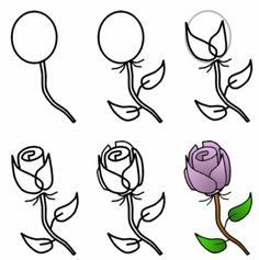 How to draw a rose.