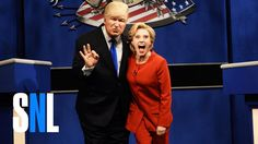 Alec Baldwin and Kate McKinnon Debate as Donald Trump and Hillary Clinton on Saturday Night Live