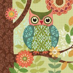 Forest Owls III by Jennifer Brinley. Gallery wrap by InGallery.com