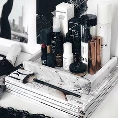 A few of the everyday favourites - Makeup 2019 Makeup Desk, Makeup Rooms, Makeup Storage, Makeup Organization, Makeup Tips, Drugstore Makeup, Makeup Cosmetics, Bedroom Inspo, Bedroom Decor