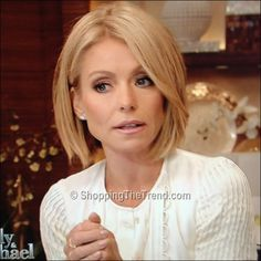 Kelly Ripa short hair on 'LIVE! with Kelly & Michael'