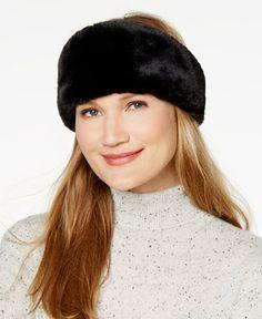 29c0b557435 INC International Concepts I.N.C. Reversible Velvet   Faux-Fur Headband