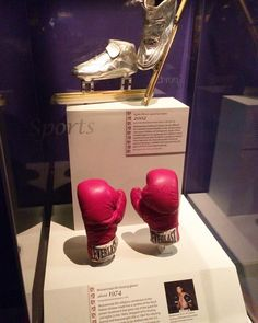 - Apolo Ohno's skates displayed together with Muhammad Ali's boxing gloves at the SmithSonian Institution in Washington D.C.  #ApoloOHno   #MuhammadAli   #AllysianSciences