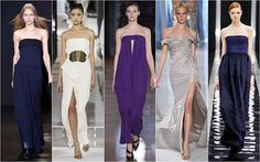 Bare Shoulders. Shoulder baring dresses and tops were the silhouette of choice when it came to international designers.