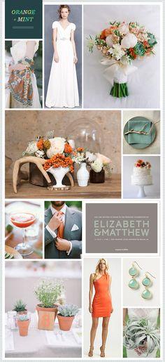 REVEL: Orange + Mint Wedding Inspiration