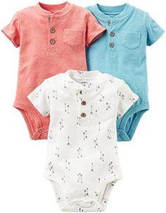 Baby Boy Bodysuit | Carter's Baby Boys Multi-Pack Bodysuits, Assorted, 18 Months