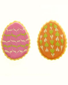 Marbleized Easter Egg Cookies -- download our free templates for decorating instructions.